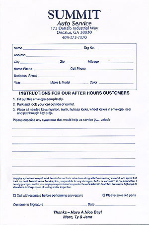 Vehicle Service Department Letter >> How to Leave Your Vehicle After Hours at Summit Auto Service
